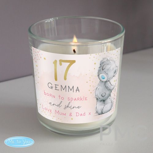 Personalised Me To You Sparkle & Shine Birthday Scented Jar Candle