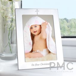 Silver 5x7 Christening Photo Frame