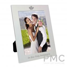 Silver 5x7 Ruby Anniversary Photo Frame