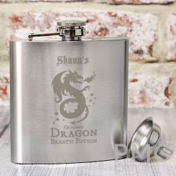 Personalised Dragon Breath Potion Hip Flask
