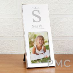 Personalised Small Initial 3x2 Silver Photo Frame