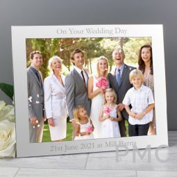 Personalised 10x8 Landscape Silver Photo Frame