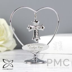 Personalised 1st Holy Communion Crystocraft Cross