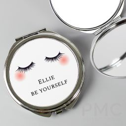 Personalised Eyelashes Compact Mirror
