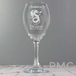 Personalised Dragon Breath Potion Wine Glass