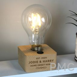 Personalised Decorative LED Bulb Table Lamp