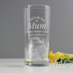 Personalised You Are The Best Hi Ball Glass