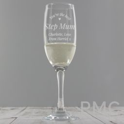 Personalised You Are The Best Flute Glass