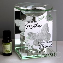 Personalised 'First My Mother' Butterfly Oil Burner