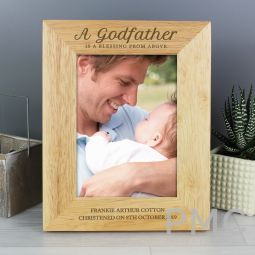 Personalised Godfather 7x5 Wooden Photo Frame