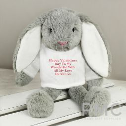 Personalised Christmas Bunny Rabbit - Red