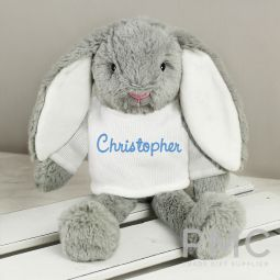 Personalised Name Only Bunny Rabbit - Blue