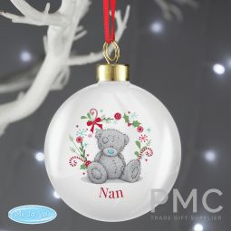 Personalised Me To You 'For Nan, Grandma, Mum' Christmas Bauble