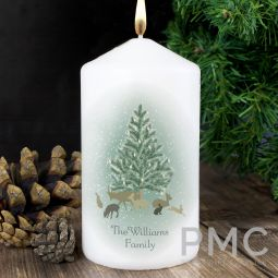 Personalised A Winter's Night Candle