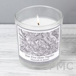 Personalised 1805 - 1874 Old Series Map Compass Scented Jar Candle