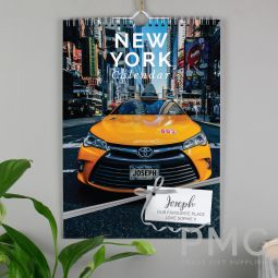 Personalised A4 New York Calendar