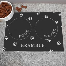 Personalised Black Pet Placemat