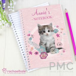 Personalised Rachael Hale Cute Kitten A5 Notebook