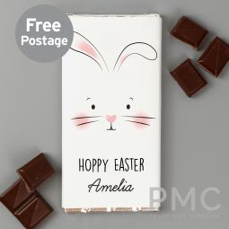 Personalised Bunny Features Milk Chocolate Bar
