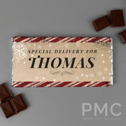 Personalised Special Delivery Milk Chocolate Bar