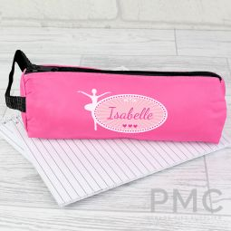 Personalised Ballerina Pink Pencil Case