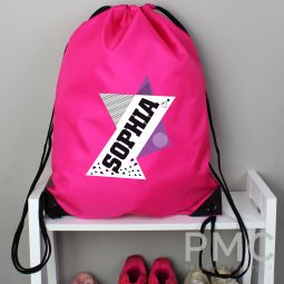Personalised Dance Pink Kit Bag