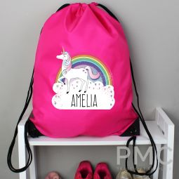 Personalised Unicorn Pink Kit Bag