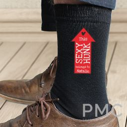 Personalised Sexy Hunk Mens Socks
