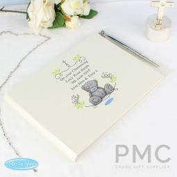 Personalised Religious Cross Guest Book & Pen