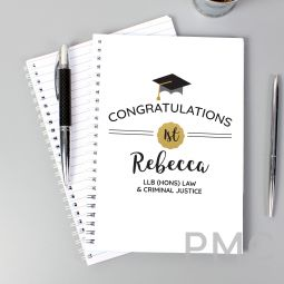 Personalised Graduation A5 Notebook