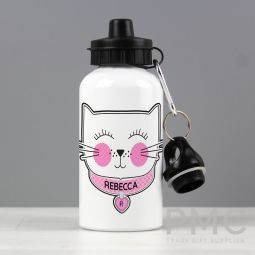 Personalised Cute Cat Drinks Bottle