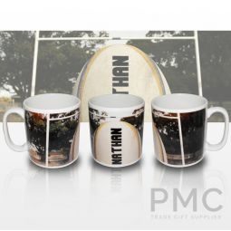 Personalised Rugby Ball Mug