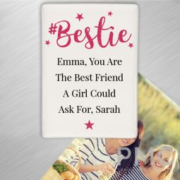 Personalised #Bestie Fridge Magnet