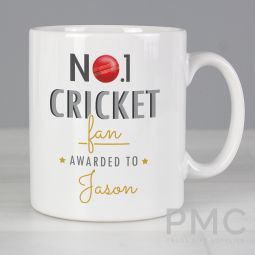 Personalised No.1 Cricket Fan Mug