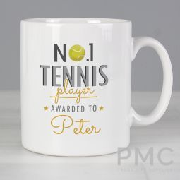Personalised No.1 Tennis Player Mug