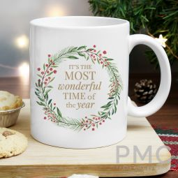 Personalised 'Wonderful Time of The Year' Christmas Mug