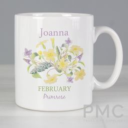 Personalised Country Diary February Mug