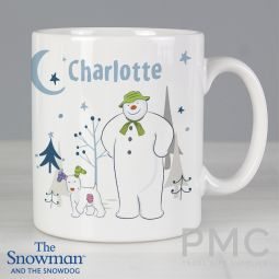 Personalised The Snowman and the Snowdog Mug