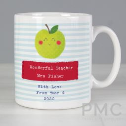Personalised Apple for the Teacher Mug