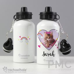 Personalised Rachael Hale Cute Cat Drinks Bottle