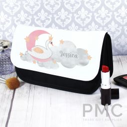 Personalised Swan Lake Make Up Bag