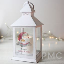 Personalised Swan Lake White Lantern