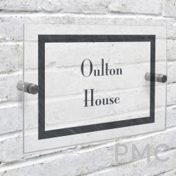 Personalised Slate Effect Acrylic House Sign