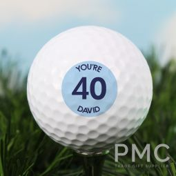 Personalised Blue Big Age Golf Ball