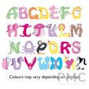 Personalised Pink Animal Alphabet Door Plaque